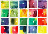 Abstract square watercolors — Stock Photo