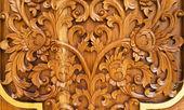 Patrón de madera tailandés — Foto de Stock