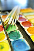 Stationery watercolor palette — Stock Photo