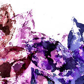 Abstract leaves watercolors — Stock Photo