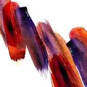 Abstract stripe watercolors — 图库照片