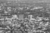 Buildings tilt-shift : black and white style — Stockfoto