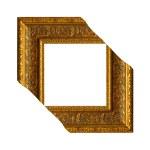 Antique gold corner frame — Stock Photo