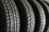 Pilha de pneus — Foto Stock