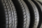 Tires stack — Stock Photo