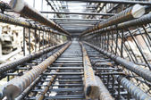 Stock rebar at constuction — Stock Photo