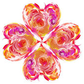 Abstract flower heart — Stock Photo