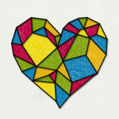 Colorful heart — Stock Photo
