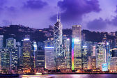 Hong Kong city twilight time — Stock Photo