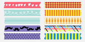 Sweet maskingtape collection — Stock Vector