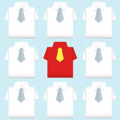 Be different shirt origami — Stockvector