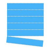 Blue graphic bar — Stock Vector
