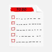 To do list notepad — Vector de stock