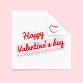 Happy Valentine's Day notepad — Stock Vector