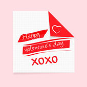 Happy Valentine's Day notepad — Stock Vector