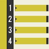 Black yellow design template retro style — Stock Vector