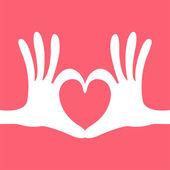 Hand heart gesture — Stock Vector