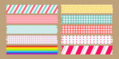 Masking tape variety set — Stock Vector
