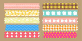 Masking tape collection — Stock Vector