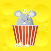 Popcorn bucket — Stock Vector