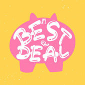 Cute promotion vector sign  — Vettoriale Stock