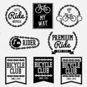 Bicycle badges — Stock Vector