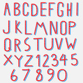 Happy font collection with number — Vecteur