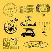 Summer collection vector — Stock Vector