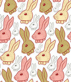 Vintage hand drawn rabbit pattern — Stock Vector