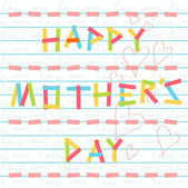 Happy mother's day card doodle scrapbook — Wektor stockowy