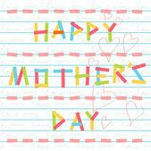 Happy mother's day card doodle scrapbook — Stockvektor