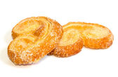 Palmera (Palmier) sweet puff pastry — Stock Photo