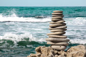 Stones on sea — Stock Photo