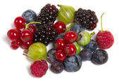 Fresh berries isolated — Stock Photo