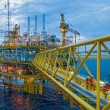 Stock Photo: Offshore rig in twilight