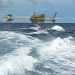 Oil and gas drilling platform — Stock Photo