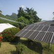 Solar panel providing power to a rural area in thailand — Stock Photo