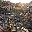 Stock Photo: After fire at slum in Bangkok, Thailand
