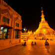 Botataung paya Pagoda in Rangoon, Myanmar — Stock Photo