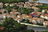 Aerial view of modern house complex, Jomtien Beach, Pattaya, Cho — Stock Photo