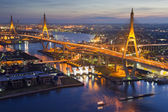 Bhumibol Bridge (the Industrial Ring Road Bridge) in Thailand — Stock Photo