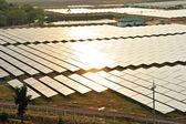 Aerial photo of solar power plant. — Stock Photo