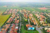 Aerial view of a village in Pathum Thani, Thailand — Stockfoto