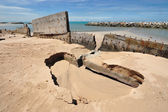 Erosion of Rayong province, the Gulf of Thailand. — Stock Photo