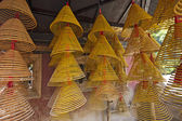 Spiral Chinese prayer joss-sticks in A-ma temple, Macau. — Stock Photo