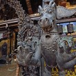 Stock Photo: Fearful monster statue in Rudravanar Mahavihar, Kathmandu, Nepa
