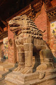 Sculptures at the durbar square, the center of patan, nepal — 图库照片