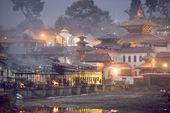 KATHMANDU NEPAL - MARCH 09: Sadhu Hanuman Baba in Pashupatinath — Stock Photo