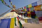 Boudhanath buddhist stupa in Kathmandu capital of Nepal — Stock Photo