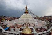 Rain coming at Bodhnath Stupa in Kathmandu, Nepal. — Stock Photo